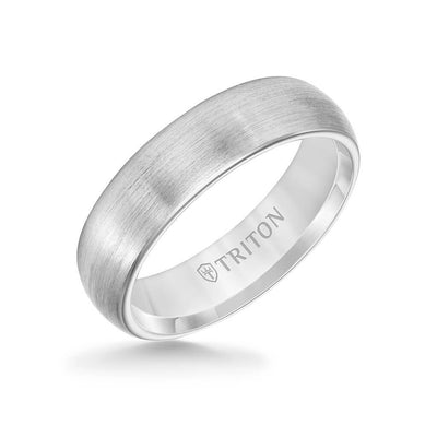 6MM Tungsten Carbide Ring - Satin Finish and Rolled Edge
