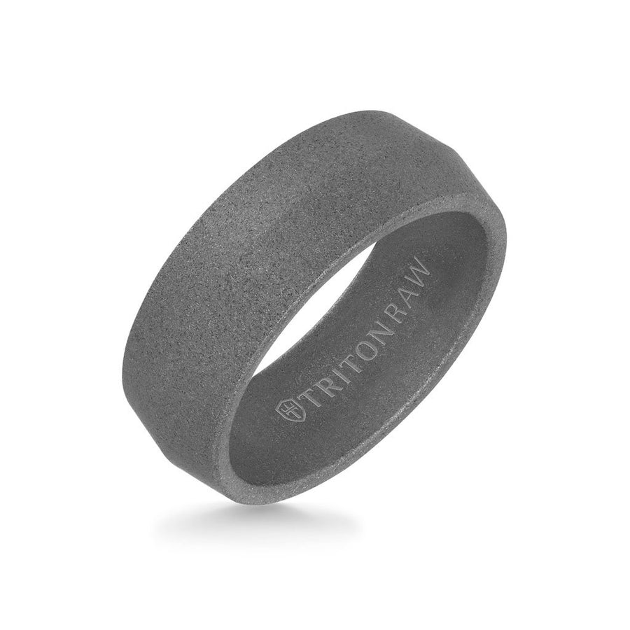 8MM Tungsten Raw Ring - Sandblasted Matte Finish and Knife Edge