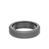 6MM Tungsten Raw Ring - Sandblasted With Black Inside Shine and Bevel Edge