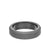 6MM Tungsten Raw Ring - Sanblasted With Black Inside Shine and Bevel Edge