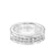 8MM Tungsten Diamond Ring - Satin Bright Finish and Bevel Edge