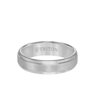 6MM Grey Tungsten Carbide Men's Ring