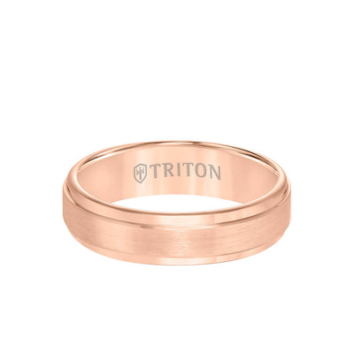6MM Rose Tungsten Carbide Men's Ring