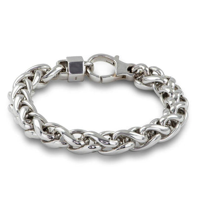 "Silver Wheat Chain 8.5"" Bracelet"