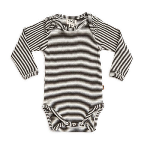 KidWild Organic Long Sleeve Body Suit - Stripe, canada,- Minna.ca