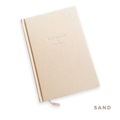 Promptly Childhood Journal - Sand - Minna Lifestyle Co.