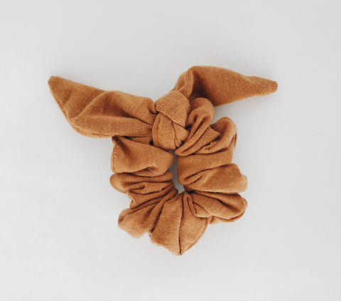 Shop Cynthea Jo Mini Scrunchies - Rust With Tie