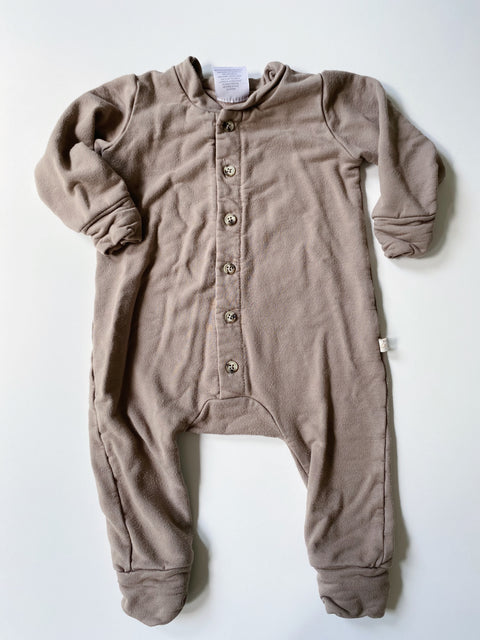 Jax & Lennon Fleese Romper Tan 0-6mos