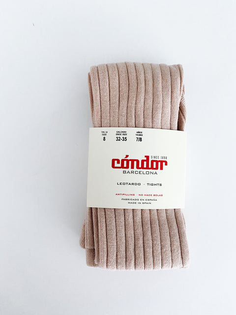 Condor Ribbed Tights - Rosa, canada,- Minna.ca