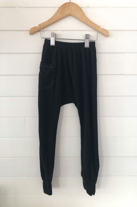 Jax and Lennon Harem Pants - Black Size 3-4, canada,- Minna.ca