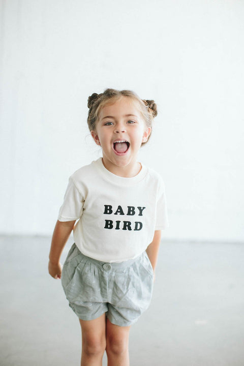 The Bee & The Fox Baby Bird Toddler Tee - Cream, canada,- Minna.ca