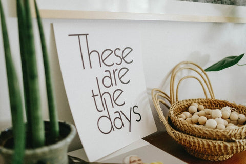 These Are The Days - Letterpress, canada,- Minna.ca
