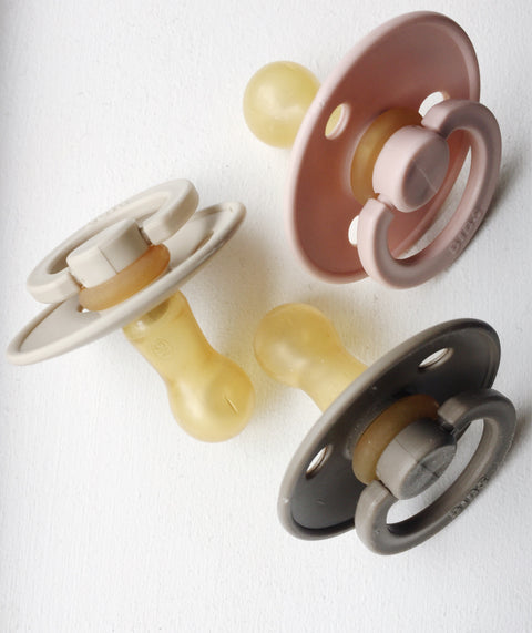 Bibs Pacifier Pack of 2 - Blush, canada,- Minna.ca