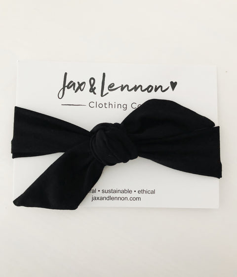 Jax and Lennon knot headband - Black, canada,- Minna.ca