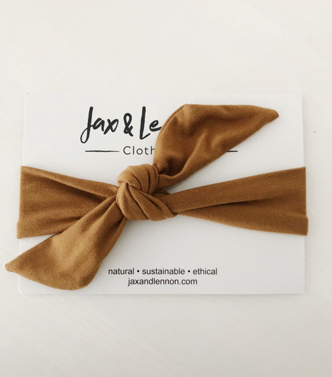 Jax and Lennon knot headband - Camel, canada,- Minna.ca