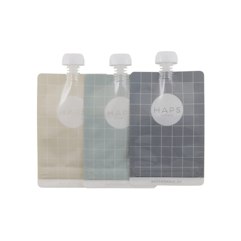 Haps Nordic Reusable smoothie bag 3 pack - Ocean, canada,- Minna.ca