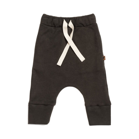 KidWild Organic Drawstring Pants - Slate LAST ONE size 6-12m - Minna Lifestyle Co.
