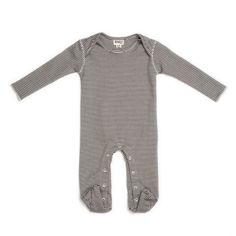 KidWild Organic Footed Sleeper - Stripe, canada,- Minna.ca
