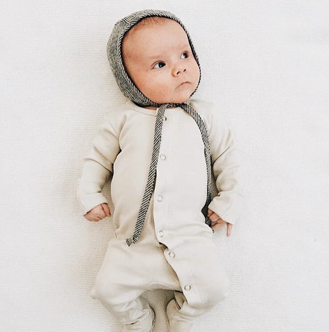 L'oved Baby footed Overall Sleeper - Stone, canada,- Minna.ca