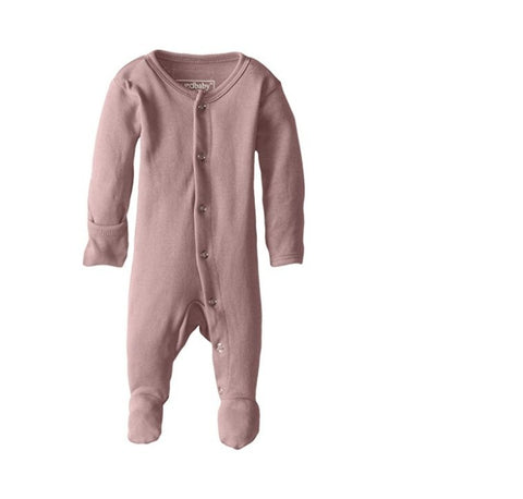 L'oved Baby footed Overall Sleeper - Mauve LAST ONE 9-12 MOS, canada,- Minna.ca