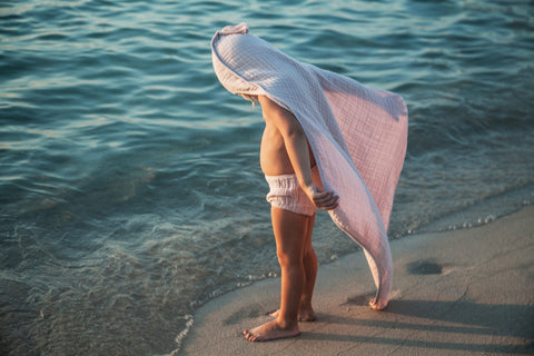 Muslin Hooded Towel - Milk, canada,- Minna.ca