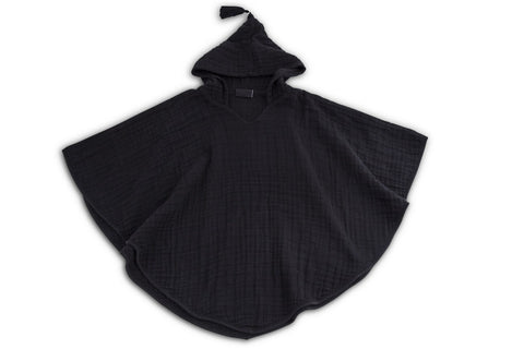 Cotton Muslin Toddler Poncho - Ink - Minna Lifestyle Co.