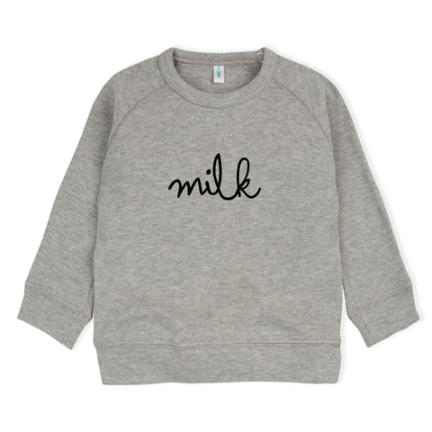 Organic Zoo Grey Sweatshirt - Milk LAST ONE size -1-2T, canada,- Minna.ca