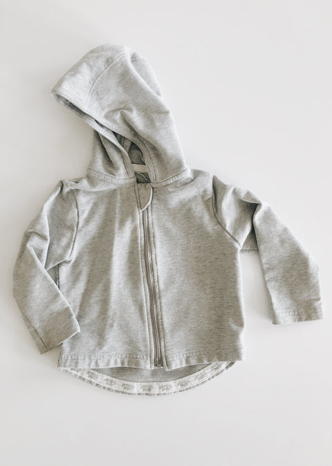 Peekaboo Beans Grey Zip Hoodie Size 6-12 mos - Minna Lifestyle Co.
