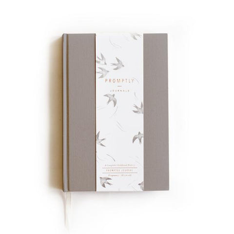 Promptly Childhood Journal - Grey - Minna Lifestyle Co.