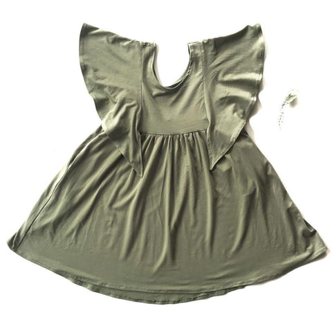 Rose + Doll Tunic Dress - Olive, canada,- Minna.ca