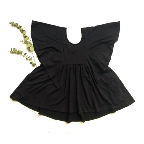 Rose + Doll Tunic Dress - Black LAST ONE size 2-3T, canada,- Minna.ca