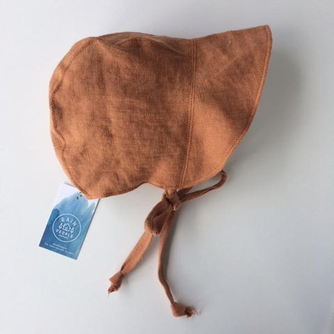 Linen Baby Bonnet - Sunbake - Minna Lifestyle Co.