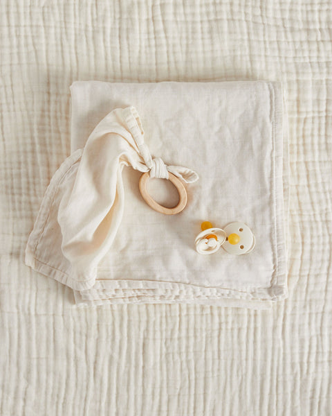 Willaby Teether Blankie - Ivory - Minna Lifestyle Co.