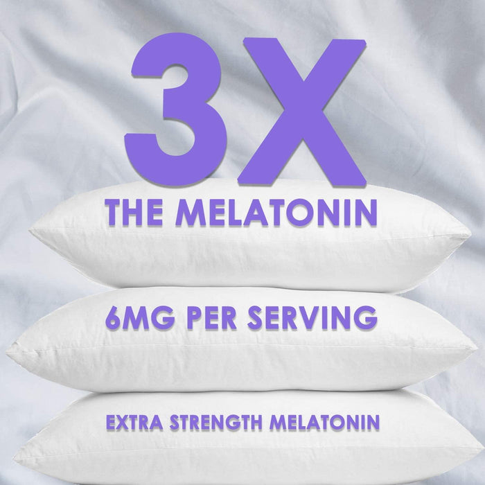 Melatonin Gummies Extra Strength Sleep Gummy Vitamins 6mg, Natural Sugar-Free Sleeping Gummies for Adults and Kids - Vegan Non Habit Forming Sleep Support Supplement for Men and Women - Nature's Nutrition