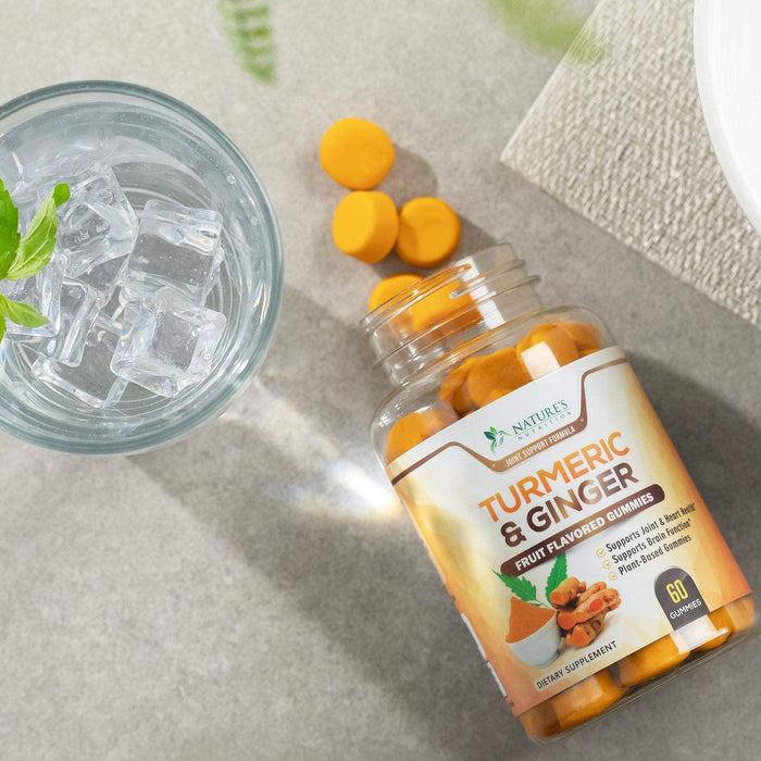 Turmeric Curcumin and Ginger Gummies - 3 Bottles - Nature's Nutrition