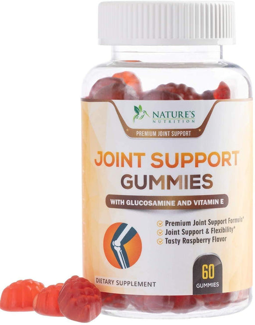 Joint Support Gummies Extra Strength Glucosamine & Vitamin E - Natural Joint & Flexibility Support - Best Cartilage & Immune Health Support Supplement for Men and Women - Nature's Nutrition