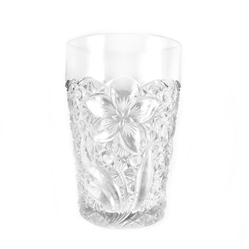 Glass Tumbler Cut Pattern