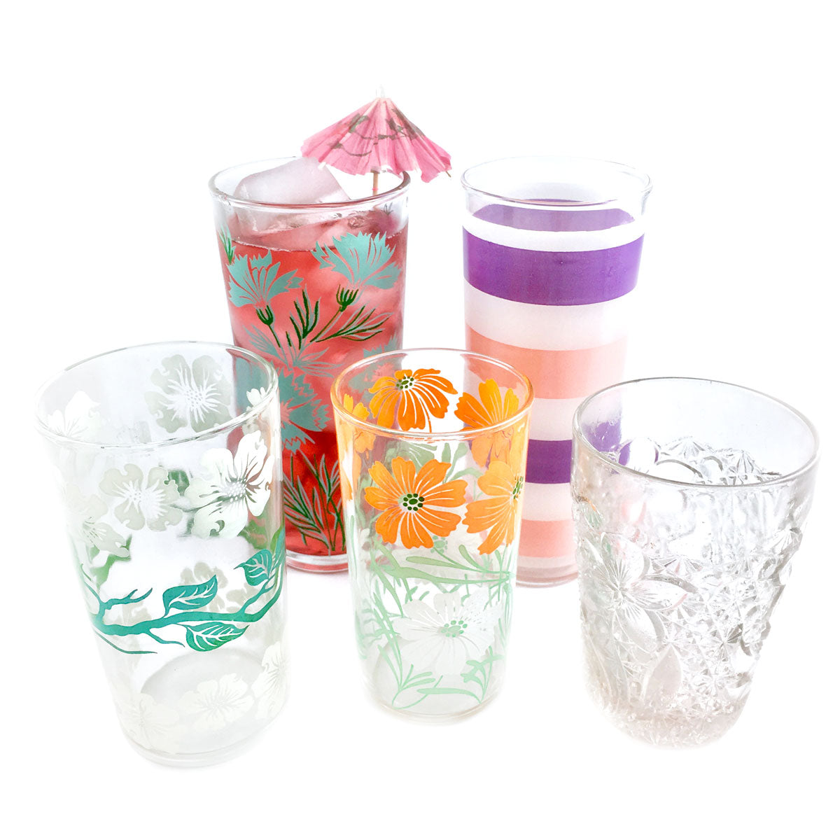 Glass Tumbler Dogwood