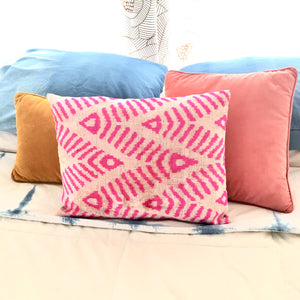 Velvet Hot Pink Throw Pillow