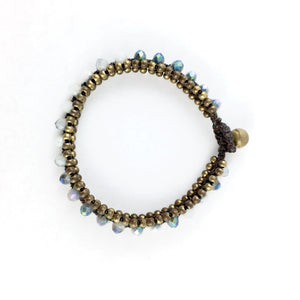 Bracelet with Quartz and Brass