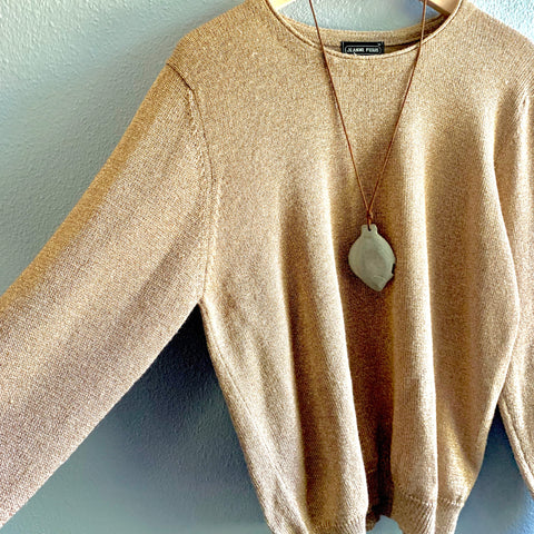 Sparkly Soft Gold Sweater