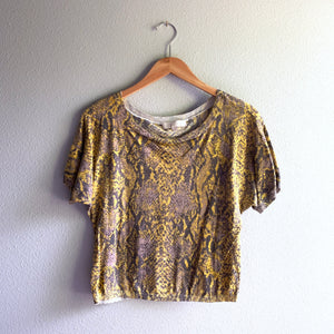 Snakeskin Sweater Top
