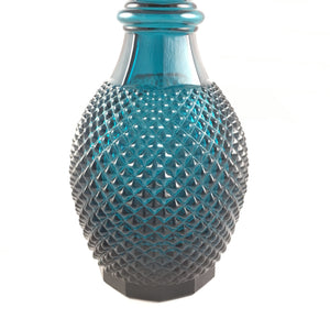 Blue Vintage Glass Decanter