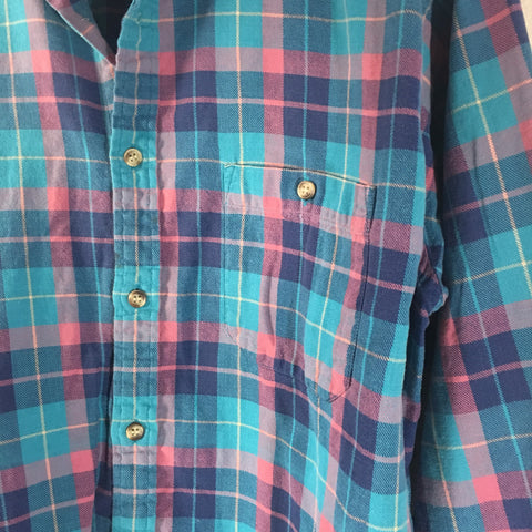 Plaid Shirt - Turq Flannel