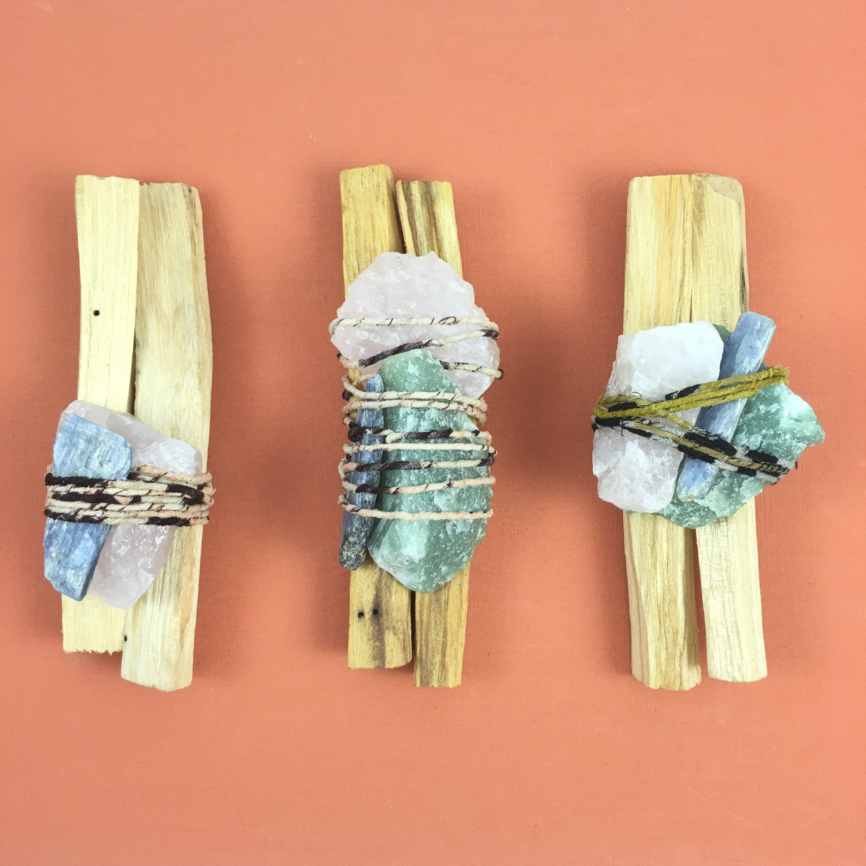 Palo Santo Quartz Smudge Bundle  #04