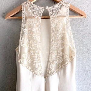 White Laundry Lace Back Dress