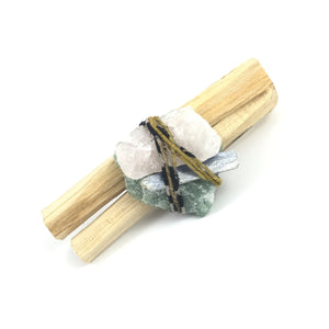 Palo Santo Quartz Smudge Bundle  #06