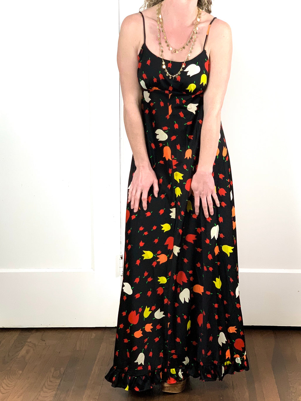 Black Tulip Maxi Dress - S