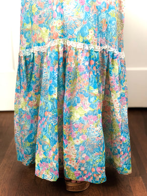 Blue Prairie Dress - S/M