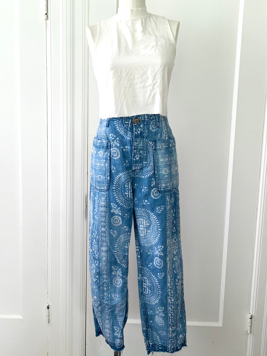 Free People Bleach Dot Denim